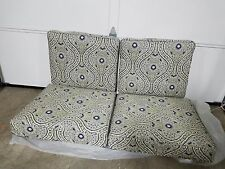 4 pc Frontgate Chestnut Hill Outdoor Patio sofa LOVESEAT Chair Cushions 54x26