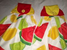 Hanging Kitchen Dish Hand Towels Fabric Top Fruit