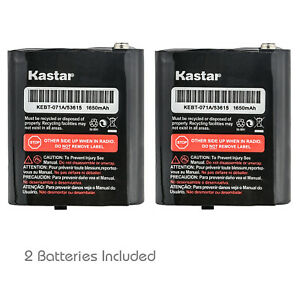 Kastar 2x 3.6V 1650mAh 53615 NiMH Battery For Motorola Radio KEBT-071-A HKNN4002