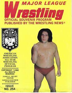 Major League Wrestling Program #254 AWA Andre the Giant, King Kong Mosca  Rare!