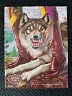 1981 Full Page Print Ad Nocona Cowboy Boots Wolf Alex Ebel Western ART