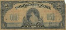 Dominion of Canada  $1  3.17.1917  P 32c  Series  A - A  Circulated banknote R15