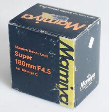 MAMIYA SUPER 180MM F/4.5 MAMIYA C LENS BOX ONLY