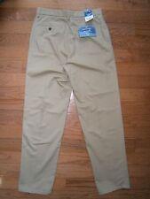 NWT Mens St John Bay Worry Free Pants Classic Fit Khaki Beige 32x34 Cotton