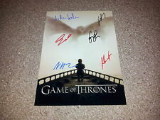 "GAME OF THRONES CASTX6 PP SIGNED 12""X8"" POSTER PETER DINKLAGE LENA HEADEY N5"