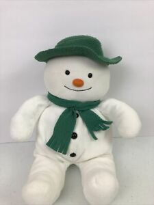 "Eden The Snowman Plush Raymond Briggs 15"" Stuffed Doll Hat Scarf Vintage Toy"
