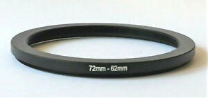 One Brand New 72mm to 62mm 72-62mm Metal Step-down Stepping Ring Filter Adapter