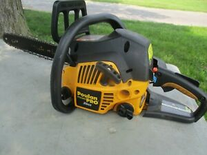 GUARANTEED TO RUN POULAN PRO PP3516AVX CHAINSAW IN GOOD CONDITION AS SHOWN