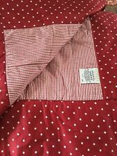 Dorma Luxury Deep Red And White Spotted Quilt NWOT