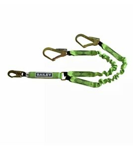 BAILEY FALL PROTECTION - Expanding Twin Lanyard with Scaffold Hooks 1.4m-1.8m