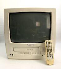 """Panasonic 13"""" Omnivision VHS Retro Gaming TV White PVQ-130WA"""