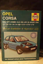 OPEL CORSA.MANUEL D'ENTRETIEN & RÉPARATION AUTO.CDX.CITY.COMBO.GLS.GSI.SPORT.Etc