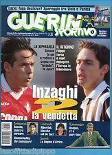 GUERIN SPORTIVO-1999 n.9- INZAGHI-ALBERTINI-GIANNICHEDDA-RECOBA -CALCIOMONDO