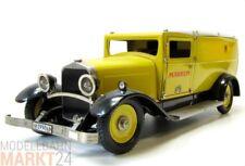 MÄRKLIN 1990 Reichspost Paket-Postauto in gelb Metall Maßstab 1:6 - OVP