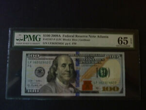 $100 PMG65 EPQ Series 2009A Gem Unc FRN Atlanta FR2187F Star Note Rios/Geithner