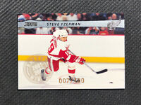 2001-02 TOPPS STADIUM CLUB STEVE YZERMAN RARE AWARD-WINNERS SILVER #ed 7/100