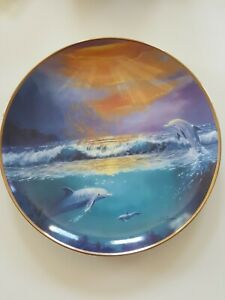 """FRANKLIN MINT - """"DAWN of the DOLPHIN"""" Collector Plate - Limited Edition"""