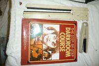 Enlarger dark room accessories - paper wipers & DARKROOM COURSE book