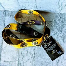 BOSTON BRUINS Reversible Lanyard - BRAND NEW NHL HOCKEY Yellow&Black