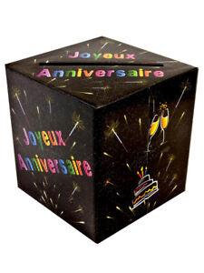 Urne Pour Anniversaire Thème Joyeux Anniversaire Chic 20cm X 23cm