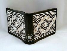 Men's real wallet purse pocket artesanal Cartera De Hilo De Plata bordada a mano