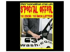 25cm Custom Self Adhesive Vinyl Sign Lettering any Color  £1.60 SPECIAL OFFER
