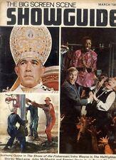 SHOWGUIDE MAGAZINE 1969 MAR ANTHONY QUINN, JOHN WAYNE, SHIRLEY MACLAINE