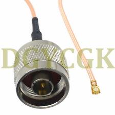 "Cable N male plug straight to IPX U.fl female RG178 RF Jumper pigtail 8"""