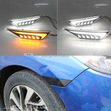 For Honda Civic 10th 2016-2020 Side Marker Light LED Turn Signal Lamp Smoke Lens