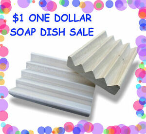 12 natural wood soap dishes - $1 each - made in USA - RESERVE LISTING