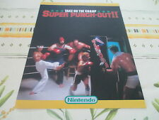SUPER PUNCH OUT NINTENDO ARCADE ORIGINAL USA HANDBILL FLYER CHIRASHI!