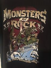Monsters of Rock 2013 Cruise Women's T shirt Size XL Hair Bands Heavy Metal