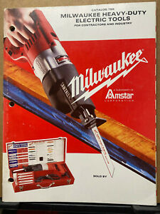 Vtg Milwaukee Catalog Electric Tools for Contractors & Industry Saws Drills 1986