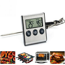 Useful Kitchen Oven Baking Food Digital LCD Thermometer Alarm Countdown Timer