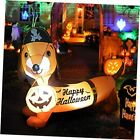 5 FT Halloween Inflatable Outdoor Dog with a Pumpkin & Pirate Hat, Blow Up