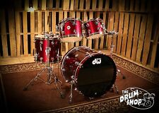 DW Collectors Series Shell Pack, Metallic Burgundy 22-10-12-16  (video demo)
