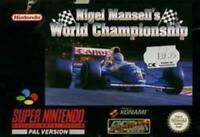 Nigel Mansell's World Championship Racing Super Nintendo Game SNES Used