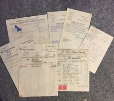 New listingCrawley Town - antique handwritten invoices & letters 1933-1954