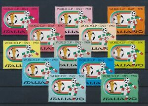 LN22950 Italy 1990 football cup soccer fine lot MNH