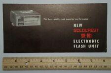 GAF Lenco Goldcrest SR-101 Electronic Flash Unit Vintage Advertising Folder