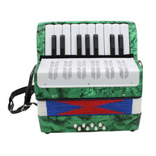 8 Bass Piano Mini Accordion Keyboard Gift Toy for Kids Music Lover Green