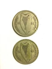 Two Irish Silver Florins dated 1928 & 1937 in a Fine condition
