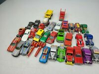 Vintage 1970's Hot Wheels Car Lot of 33 Toy Model Cars Cruisers Trucks Knivel