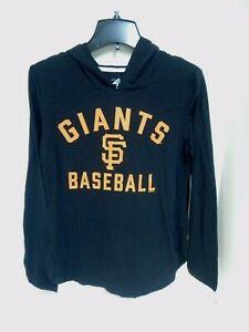 San Francisco Giants Womens Black/Orange Tshirt Hooded G-III 4her Sample Size M