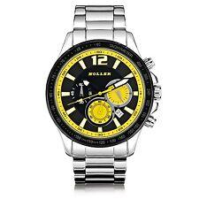 Holler Invictus Yellow Chronograph Mens Watch HLW2193-2 2193-2 BNIB