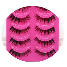 5Paar Makeup Handmade Thick Long Eye Lashes Extension  Künstliche Wimpern
