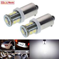 2x White 6V DC 6 Volt LED Light BA9S T11 T4W 7 SMD Bayonet Car Scooter Bike Bulb