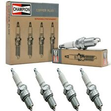 4 Champion Copper Spark Plugs Set for 2017 NISSAN QASHQAI L4-2.0L