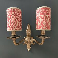 William Morris Brer Rabbit - Handmade, Candle Clip Half Lampshade for Wall Light