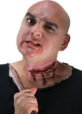 Slit Throat Cut Neck Fake Wound Scar Bloody Head Injury Latex Prosthetic Prop